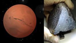 meteorite da Marte pieno  acqua
