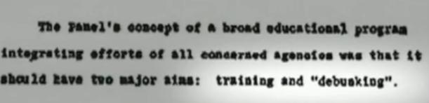 Uno dei presunti documenti che proverebbero la teoria del cover up